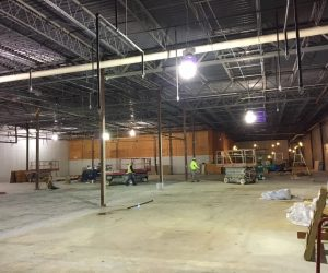 TJMAXX construction at Pine Tree Mall Marinette